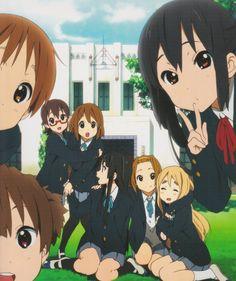 Hirasawa Ui, Suzuki Jun, Nakano Azusa, Manabe Nodoka, Hirasawa Yui, Akiyama Mio, Tainaka Ritsu & Katobuki Tsumugi
