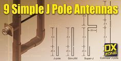 A collection of 9 easy to build J Pole antenna projects for VHF UHF and also HF