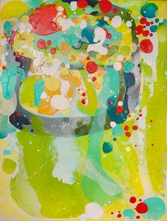 """Playlist"" by Claire Desjardins - 36""x48"" - Acrylics on canvas. #Colorful #abstract #art"