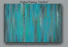 Abstract painting Canvas art Wall art large Teal home