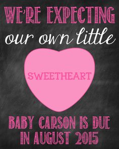 Valentine's Day Pregnancy Announcement by ChalkingItUpBoards