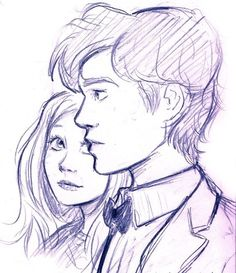 I& only just started to watch Doctor Who with Matt Smith and Karen Gillan,. - I& only just started to watch Doctor Who with Matt Smith and Karen Gillan, and I& real - Cartoon Kunst, Cartoon Drawings, Easy Drawings, Doctor Who Drawings, Doctor Who Art, Doctor Drawing, Cute Couple Drawings, Couple Sketch, Love Sketch