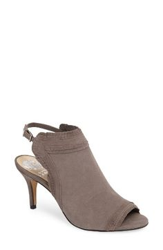 Free shipping and returns on Vince Camuto Prenda Sandal (Women) at Nordstrom.com. Tiny, layered ruffles frill the edges of a suede shield sandal detailed with a slim slingback strap and a balanced, tapered heel.