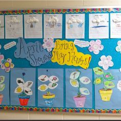 flower illustration above and below ground bulletin board - Google Search