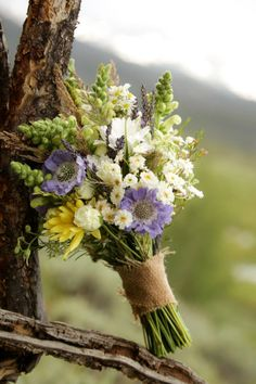 My flowers have burlap wrapped around the stems similar to this. I'm excited to see them