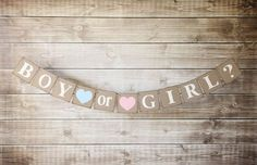 Boy or Girl Banner-Gender Reveal banner-Its a Boy-Its a girl-Gender Reveal Party-Baby Shower Decor Baby Shower Favors, Baby Shower Parties, Baby Boy Shower, Baby Showers, Baby Decor, Baby Shower Decorations, Gender Reveal Banner, Gender Party, Baby Sprinkle