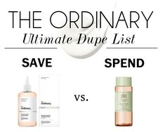 The Ordinary Ultimate Dupe List | Makeup Savvy - makeup and beauty blog