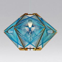 Andromeda Star pendant lamp  in the Sky color way. Sculptural mid-century modern inspired lighting