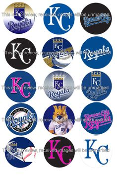Kansas City Royals inspired 1 inch images for by JinglesShingle, $1.85