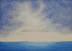Sky and Ocean I - Watercolor Paintings
