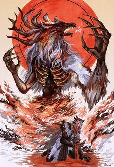 Bloodborne Characters, Bloodborne Art, Fantasy Characters, Dark Souls, Demon's Souls, Dark Blood, Soul Game, Ninja Art, Fantasy Places