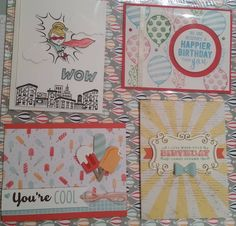 Swap cards by my team leader (top left) and teammates! All from the Occasions catalogue and Saleabration catalogue. I just love them! #cardmaking #stampinup