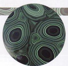 Imitación a minerales y piedras: mármol, ágata, ojo de tigre, turquesa...