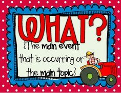 ASKING QUESTIONS POSTERS {WHO?, WHAT?, WHEN?, WHERE?, WHY?, HOW?} CCSS - TeachersPayTeachers.com