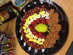 Turkey fruit party platter