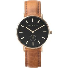 The Horse Classic Rose Gold Watch | Black/Tan