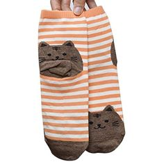 9d43266cc4e Sankuwen® Womens Striped Animals Cat Footprints Floor Socks   Price     amp