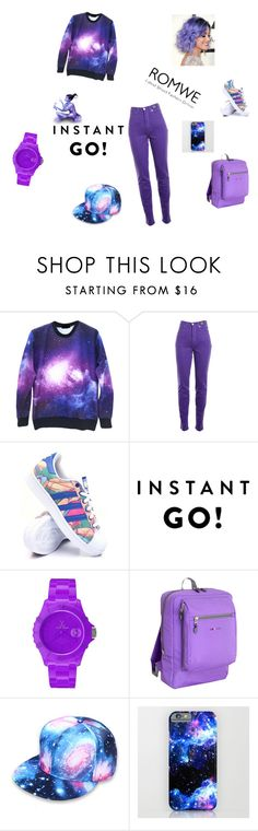 """away"" by juromi7 ❤ liked on Polyvore featuring Versace Jeans Couture, adidas, Toy Watch and JWorld New York"