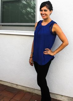 Stitch Fix: I'd love to try a top like this one. Love the color and the fit.