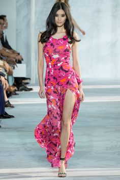 DVF, pretty in pink.  Spring 2015 Trend Report