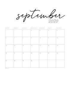 Free Printable 2020 Minimal Calendar - The Cottage Market Monthly Calender, Printable Blank Calendar, Monthly Planner Printable, Free Printable Calendar, Calendar Pages, Free Printables, Calendar Templates, Print Out Calendar, 3 Month Calendar