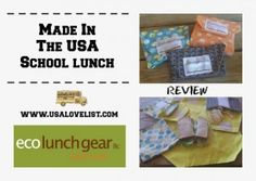 Eco Lunch Gear #madeinUSA sandwich wraps and snack bags