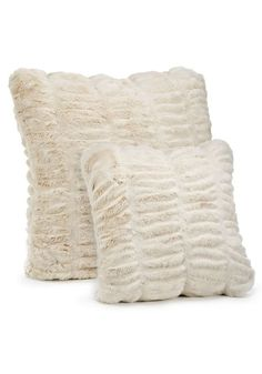 Ivory Mink Couture Collection Faux Fur Pillows - 1