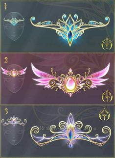 Tiaras of Destiny Anime Weapons, Fantasy Weapons, Dessin Animé Lolirock, Drawing Anime Clothes, Fantasy Drawings, Fantasy Artwork, Magical Jewelry, Weapon Concept Art, Fashion Design Drawings