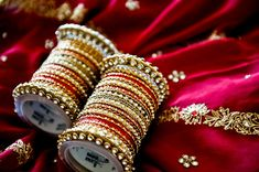 Gold & Red Indian Wedding Bangles