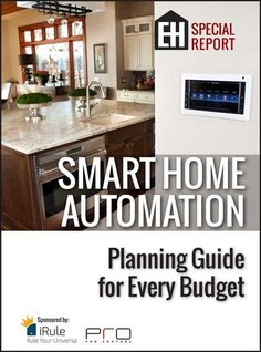 FREE REPORT: Smart Home Automation Planning Guide for Every Budget Master smart home technology and DIY home automation before creating any smart home system. This FREE guide has the expert home control system advice you need! #homesecuritysystemproducts