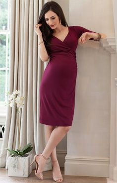 Francesca Maternity Dress Mulberry by Tiffany Rose