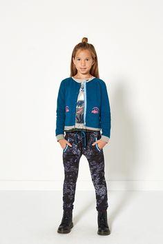 Glamping | Fashion | Print | Top | Cardigan | Blue | Pants | Lookbook