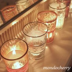 SO PRETTY!!! Is there any way we can do glass candle holders?