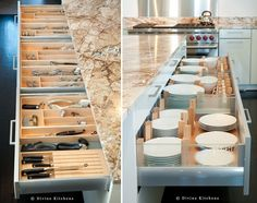 Truly excellent storage drawers for the well-appointed kitchen island.