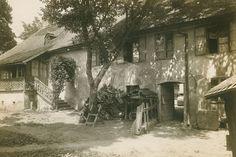 Wien/Heiligenstadt, Probusgasse: Beethoven-Haus, Gartenansicht, um 1920