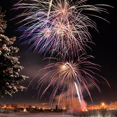 Frosted and fabulous – New Year's Eve in Alaska is the big fireworks night of the year. July is just too bright, even around midnight. FIREWORKS WITH ALL THE SNOW & ICE IS ONE OF THE AMAZING THINGS ABOUT LIVING HERE!