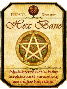 Halloween Hex Bane Potion Label