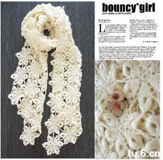free irish lace crochet scarf patterns | free pattern crochet scarf by JullieNguyen19