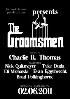 The Groomsmen Godfather by soireebydesign on Etsy, $1.50