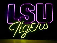 LSU Tigers Classic Neon Light Sign 17 x 14