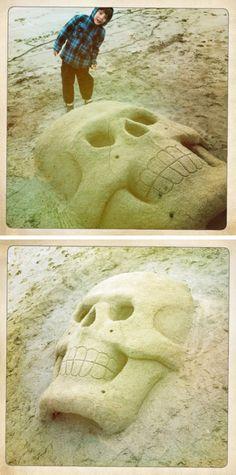 Skull SandSculpture