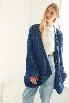 Loopy Mango, Summer Coats, Long Vests, Cozy Sweaters, Hand Knitting, Pullover, My Style, Cotton, Jackets