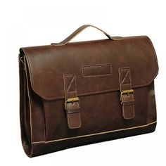 Brown Leather Vintage Look Retro Soft-Sided Briefcase, Satchet Bag, & Laptop Bag Business Briefcase, Briefcase For Men, Leather Briefcase, Crazy Horse, Laptop Tote Bag, Laptop Briefcase, Mens Travel Bag, Travel Bags, Look Retro