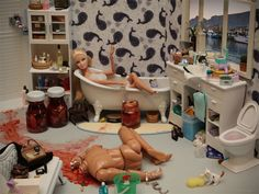 Ken pissed off Barbie a few too many times...
