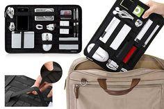 great way to keep knick-knacks organized in ur handbag or laptop bag American Girl, Tool Organization, Organizing, Hacks, Laptop Bag, Diaper Bag, Ipad, Pouch, Diy