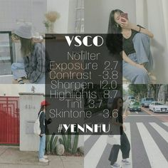 Pinterest: jennisazo Vsco Cam Filters, Vsco Filter, Vsco Photography, Photography Editing, Vsco Gratis, Vsco Hacks, Vsco Effects, Photo Editing Vsco, Snapchat Picture