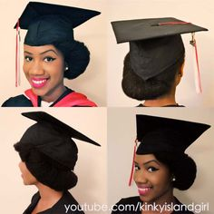 The perfect graduation cap style for natural hair: http://blackgirllonghair.com/2013/05/the-perfect-graduation-cap-style-for-natural-hair/