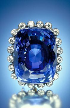 The Logan Sapphire Originally from Sri Lanka, this 423-carat violet blue sapphire is roughly the size of an egg. It belonged to a Washington, D.C., socialite, Mrs. Polly Logan, who donated the stone to the Smithsonian's collection in 1960