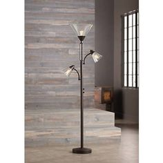 Warwick Tree Torchiere Floor Lamp with Edison Bulbs - #32Y35 | Lamps Plus