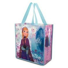 Disney Tote Bag - Frozen - Anna and Elsa Reusable Shopper Frozen Bag, Frozen Dolls, Frozen Party, Frozen Easter Basket, Easter Baskets, Disneyland Paris, Disney Tote Bags, Disney Luggage, Cute Gifts For Girls